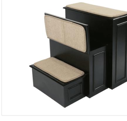 Gen7Pets Deluxe Espresso Wood Dog Steps