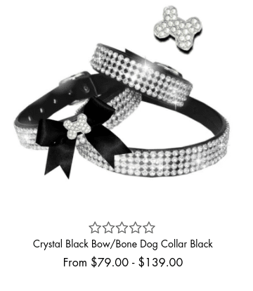 Crystal Black Bow Collar